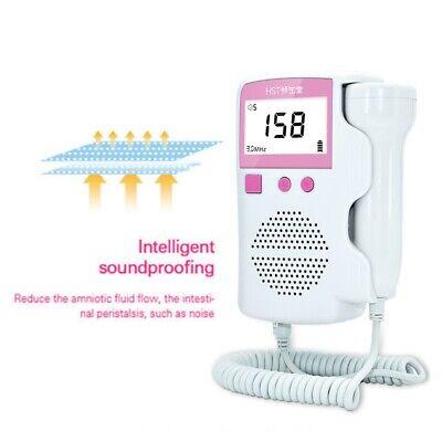 Pocket Fetal Doppler Meter Prenatal Heart Rate Detector Monitor 3.0 Mhz Pink