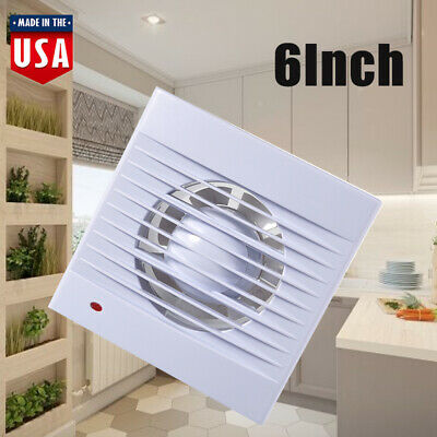 """New 6"""" Exhaust Extractor Fan Wall Bathroom Toilet Kitchen Mounted 110V White US"""