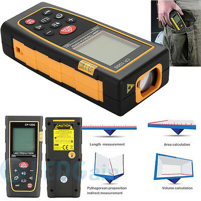Professional 100M/328ft Digital LCD Laser Distance Meter Range Finder Measure US
