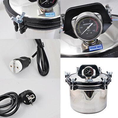 110v 8l Steam Autoclave Sterilizer Dental Pressure Sterilization Dual Heating