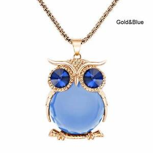 Owl necklace - Gold & blue - NEW. Gateshead Lake Macquarie Area Preview