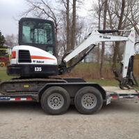 Mini excavator and operator available