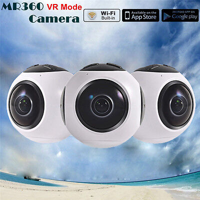 MR360 4K HD 3840*2160 360 Panoramic Camera Support VR Box Camcorder For Surfing
