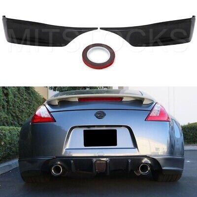Fits 09-19 Nissan 370Z SS Style Rear Bumper Lip Spat Splitter Aprons Spoiler PU