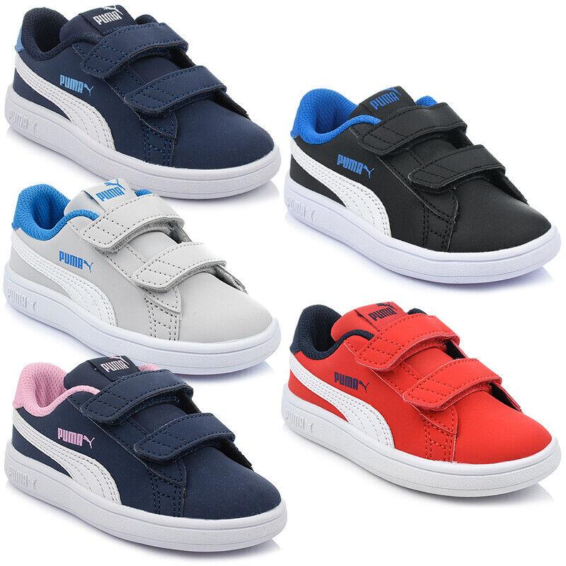 Details zu Neu Schuhe PUMA SMASH V2 BUCK V INF Kinderschuhe Sneaker Turnschuhe Gr. 20 27