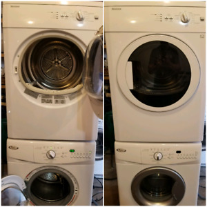 Apartment size compact washer and dryer