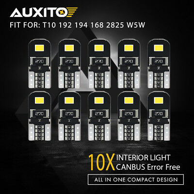 10X CANBUS ERROR FREE T10 2825 194 168  SMD LED Number Plate Light Bulbs 6000K
