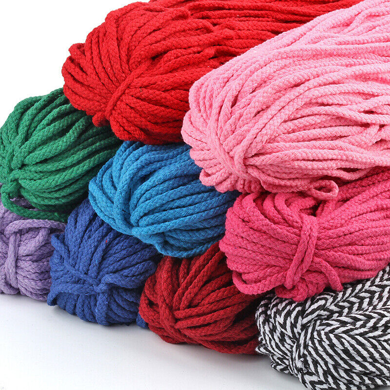 100 yards Braided Macrame Cord Cotton Rope 5mm String Line T