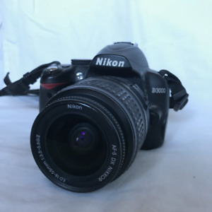 Nikon D3000 10.2 MP Digital DSLR Camera w/ VR 18-55mm Lens