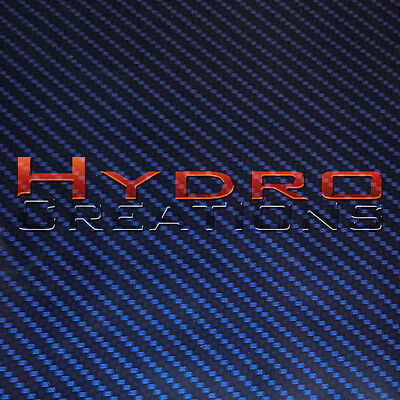 Hydrographic Film Hydro Dipping Water Transfer Chrome Carbon Fiber Blue 38.5x19