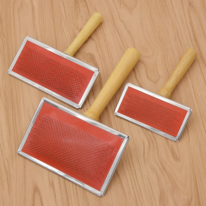 Three Size Wool Blending Carding Comb Stainless Steel Fleece Felting Preparation
