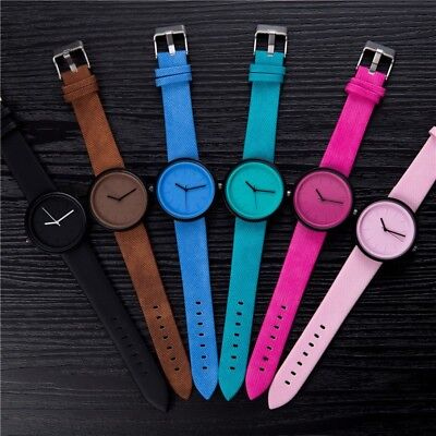 (Luxury Women's Leather Watch Pink Brown Black Blue Green)