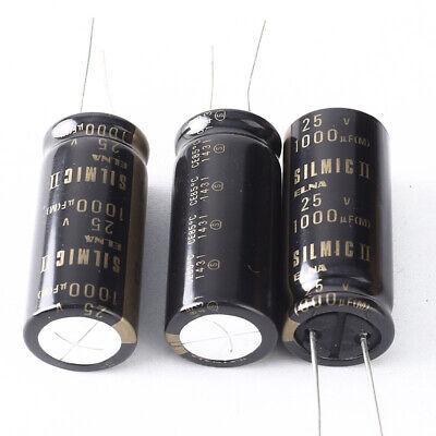 Japan 1pcs Elna Rfs Silmic Ii 1000uf 25v Highest Audio Capacitor New Diy Hifi