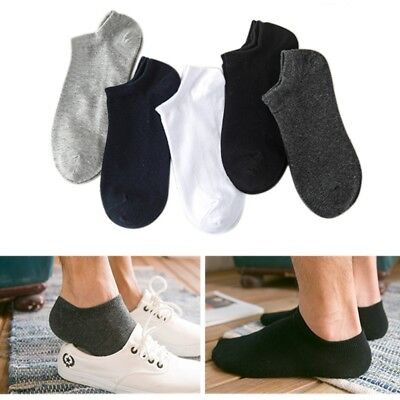 US 5 Pair Men Low Cut Socks Cotton Loafer Breathable Casual