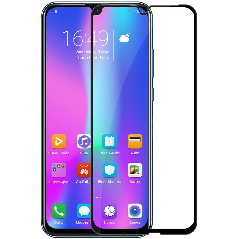 GUOHUN Screen Protector Protective 25 PCS 9H 5D Full Glue Full Screen Tempered Glass Film for Huawei Honor 10 Lite//P Smart 2019 Glass Film