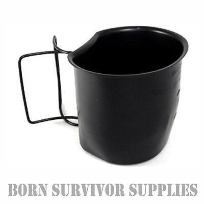 BCB CRUSADER METAL CUP BLACK PTFE - Stainless Steel Cooking Mug British Army
