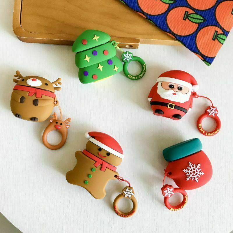 Festive Fun Christmas Holiday Case Cover For Apple Airpod Ea
