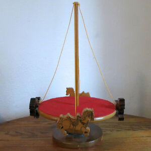 Vintage Toy Merry Go Round Hand Made Wood One of a Kind Folk Art Kitchener / Waterloo Kitchener Area image 3