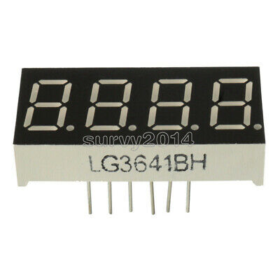 10pcs 0.36inch 7 Segment 4 Digit Common Cathode 0.36 Red Led Digital Display