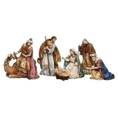 Nativity Set 8 inch Holy Family Kings Camel Stunning Detail Indoor Outdoor 6pc