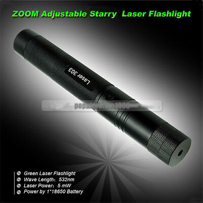 10 Mile 532nm Green Laser Pointer Pen Light Adjust Focus Lazer 5mw Visible Beam