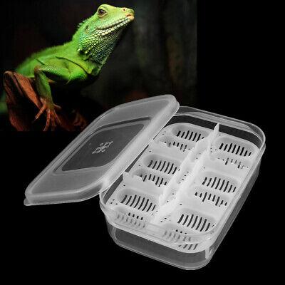 12 Reptiles Eggs Incubator Tray Gecko Snake Bird Amphibians Hatching Case Breedi