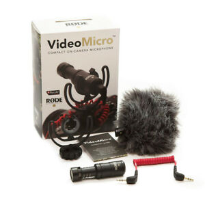 Rode VideoMicro Compact On-Camera Microphone with Rycote Lyre Sh