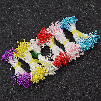 500 Pcs Floral Stamens Flower Double Tips Diy Making Craft Supplies Handmade
