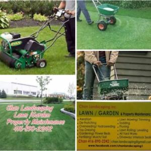 Lawn Aeration / De-thatching / Lawn Mowing /All Yardwork