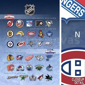 30-x40-NATIONAL-HOCKEY-LEAGUE-TEAMS-NHL-DIVISIONS-LOGOS-SPORTS-CANVAS