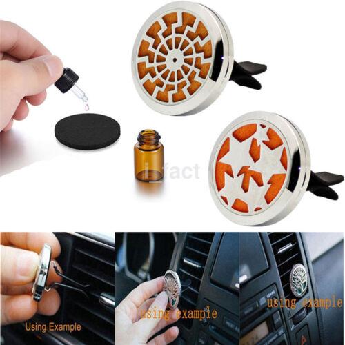 HOT Mini Car Air Vent Freshener Perfume Essential Oil Diffuser Locket Case Box U