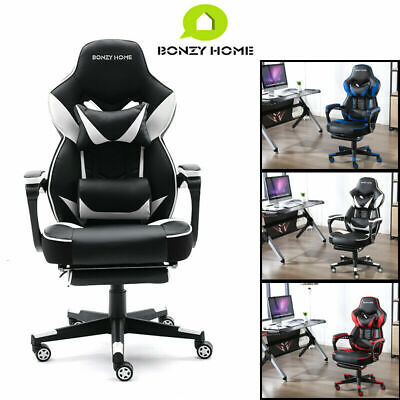 Gaming Chair Highmid Back Leather Swivel Office Ergonomic Desk Wlumbar Support