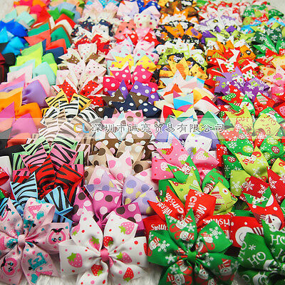 Wholesale Colorful Girl Baby Toddler Kids Boutique Hair Bows Grosgrain Ribbon
