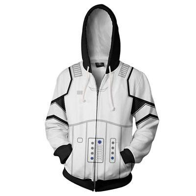 Star Wars Imperial Storm Trooper Cosplay Costume 3D Jacket Hoodie Sweatshirt
