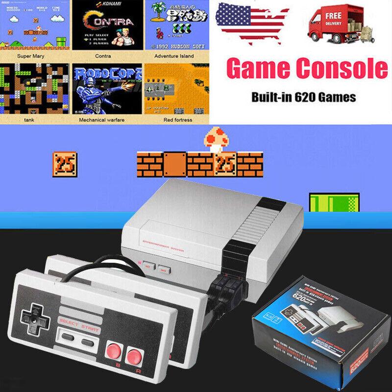 Mini Retro Game Console For NES Built-In 620 Classic Games+ 2 Controller US Plug
