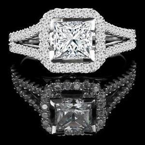 Diamond Engagement Ring 1.85CT Bague de Fiançailles en Diamant