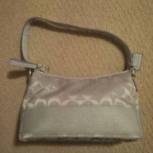 Blue-grey Coach purse