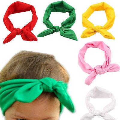Baby Toddler Cute Girl Kid Bow Hairband Turban Knot Rabbit Headband Headwear RR