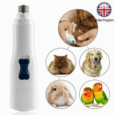 Electric Pet Nail Grinder Safe Claw Grooming Trimmer Dog Cat Paws Clipper Tools