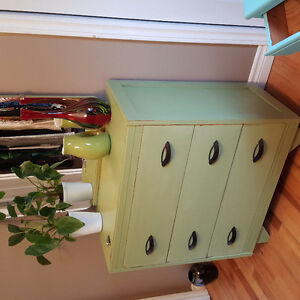 Antique solid wood refinished furniture