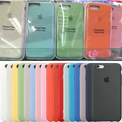 Original Silicone Case Genuine Cover for Apple IPhone 7 8 Plus X XS Max XR UK