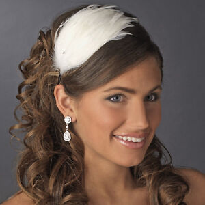 """""""Great Gatsby"""" feather and crystal headband"""