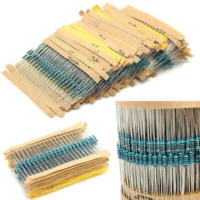 3120pcs 156 Values 14w 1 Metal Film Resistor Assortment Kit 1 Ohm-10m Ohm