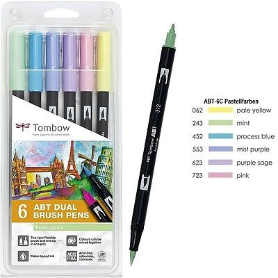 Tombow Dual Brush Pen ABT-6C-2 Pastellfarben