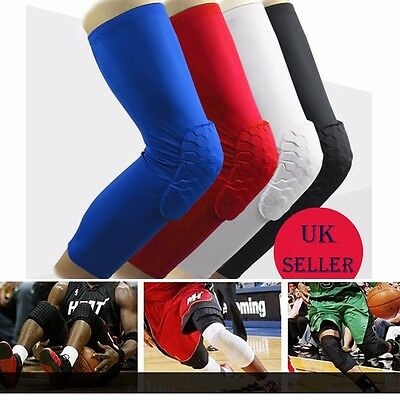 Crashproof Antislip Basketball Leg Knee Sleeve Protector Gear Honeycomb Pad PT