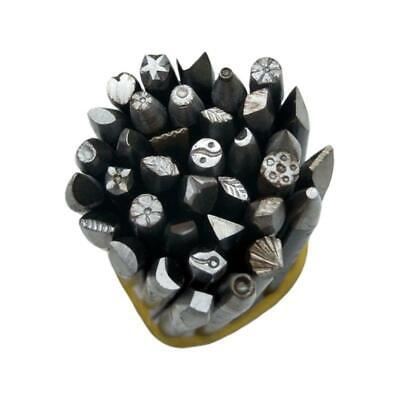 36 Pcs/set DIY Crafts Tool Steel Punches Flower Punch Stamp Set Jewelry Making