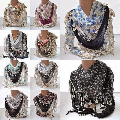 senschals Dreiecktuch Schal Halstuch Cotton Faltenschal (Damen-accessoires Großhandel)