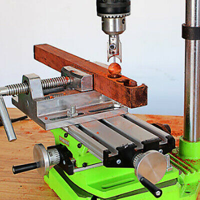 2axis Milling Machine Compound Work Table Cross Sliding Bench Drill Vise Fixture
