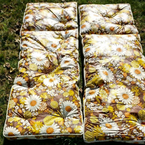 Two vintage lounge cushions