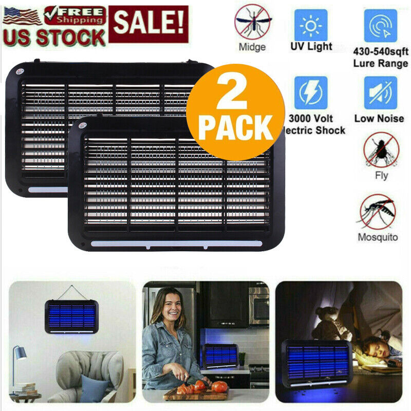 Indoor Bug Zapper Electric Insect Fly Pest Bug Gnat and Mosquito Killer 2-Pack